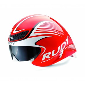 Casque Rudy Project WING57 RED FLUO-WHITE SHINY + VISIERE S/M
