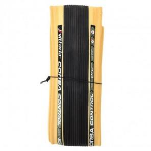 Pneu Vittoria Corsa Control 700x25 Souple Noir/beige Graphene+