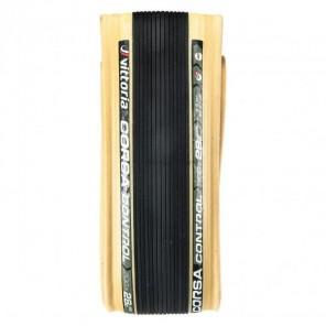 Pneu Vittoria Corsa Control 700x28 Souple Noir/beige Graphene+