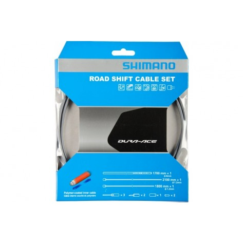 Kit Cables Gaines Derailleurs Shimano Dura-Ace Gris Polymere