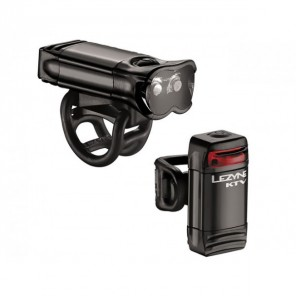 KIT ECLAIRAGE LEZYNE LED KTV drive pro pair - Black