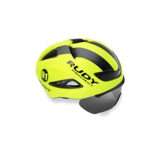 Casque Rudy Project Boost 01 YELLOW FLUO - BLACK MATTE L + VISIERE