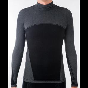 Sous-vêtement homme Megmeister hiver manches longues col haut BLACK S/M