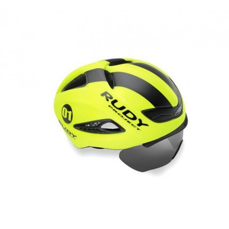 Casque Rudy Project Boost 01 YELLOW FLUO - BLACK MATTE S/M + VISIERE