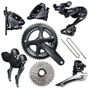 Groupe SHIMANO ULTEGRA DISC R8020 172,5 50/34 11/28 BSA avec Disques