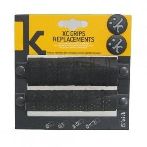 Fizik X-Country Grip 135mm de remplacement Noir/Noir