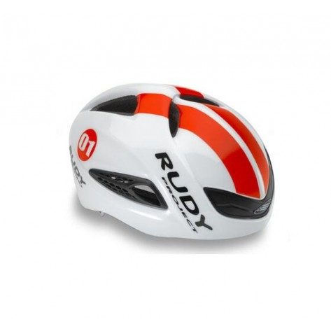 Casque Rudy Project Boost 01 WHITE - RED FLUO SHINY L