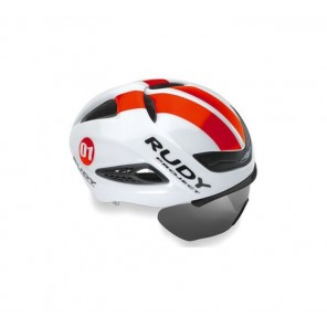 Casque Rudy Project Boost 01 WHITE - RED FLUO SHINY L + VISIERE