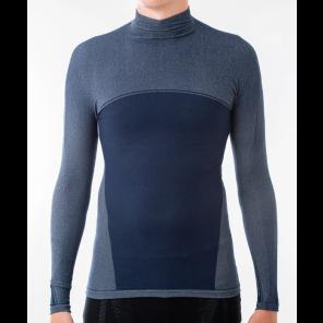 Sous-vêtement homme Megmeister hiver manches longues col haut NAVY L/XL