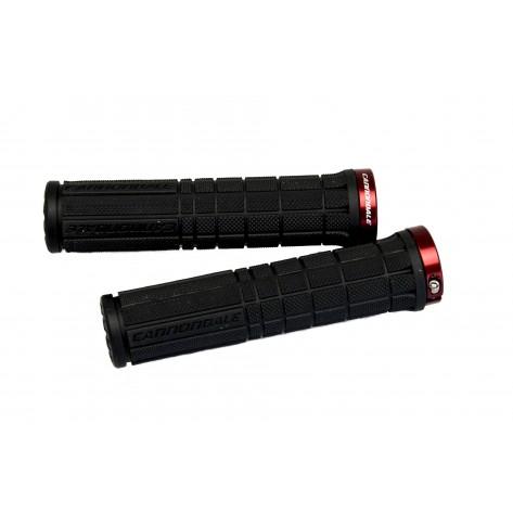 Poignées Cannondale Lock on noir/rouge